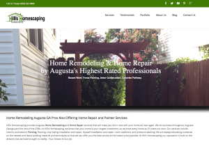 Hill's Homescaping home improvement web design 300x214